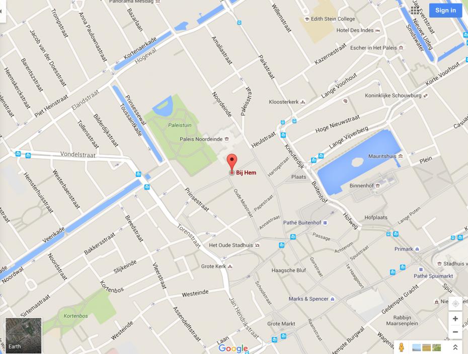 Locatie   Bij HeM Eten en Drinken Den Haag